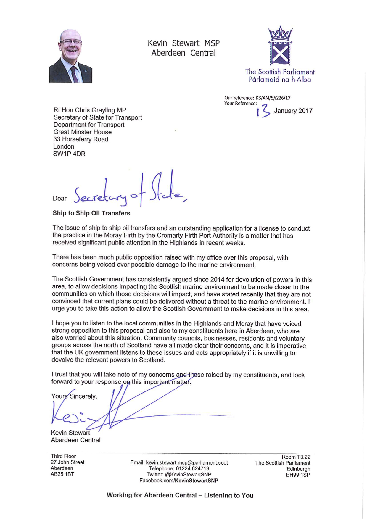 oil leak 97 a letter from kevin stewart msp – cromarty rising